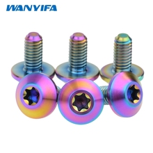 Wanyifa M6x12mm Titanium Bolts Screws Button Torx Head Bicycle Motorcycle Disc Brake pack of 6(China)