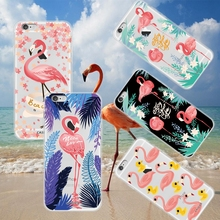 KISSCASE Flamingo Case For iPhone X 8 7 6 6s Plus 5 Cover For Samsung Galaxy S5 S6 S7 Edge S8 Plus Note 4 5 8 Huawei P8 P9 Lite(China)