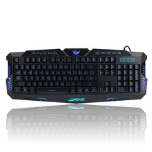 English/Russian Keyboard Wired Computer Gaming Keyboard LED Red/Purple/Blue Backlit Powered Game Keyboard Gamer PC for Laptop(China)