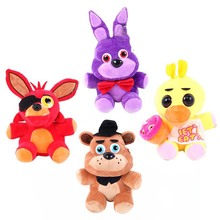 Five Nights At Freddy's 4 Kawaii Fnaf World Freddy Fazbear Bear Foxy Bonnie Chica Plush Stuffed Animal Kids Toys Peluche Doll(China)