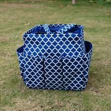 Wholesale Blanks Quatrefoil Garden Tote Garden Tool Bag Women Tote with Mutil Pockets Utility Tote DOM103177(China)