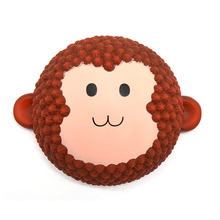 12PCS 2017 New Jumbo Areedy Squishy Cartoon Monkey Cake Scented Cute Super Slow Rising Kids Toy Wholesale