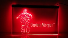 b68 Captain Morgan Spiced Rum Bar NR LED Neon Light Sign(China)