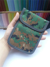 Signal Blocker Military camouflage Pouch Stop Cell Phone GPS RFID Tracking&Bugging Privacy Protector radiation mobile phone Case(China)