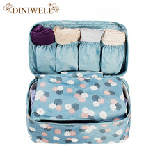 DINIWELL Portable  Plus Size Travel Drawer Dividers Closet Organizers Bra Underwear Storage Bag Container For Women Gril