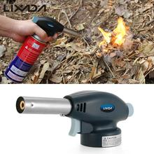 Lixada Flame Gun Welding Gas Torch Lighter Auto Heating Ignition Butane Portable Camping Welding Gas Torch For Outdoor BBQ(China)