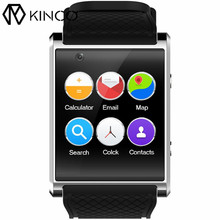 KINCO 1.54 inch MTK6580 4G+512MB WIFI GPS Camera Smart Watch Phone Bluetooth SIM Card 3G Video Call Bracelet for IOS/Android(China)