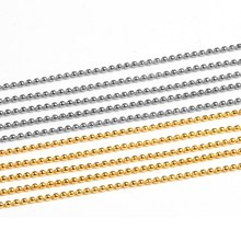 5 Pcs/bag Gold Silver Metallic Caviar Micro Beads Chain Nail Charms for Manicure DIY Nails Decoration Nail Art Tools WY622-WY623(China)