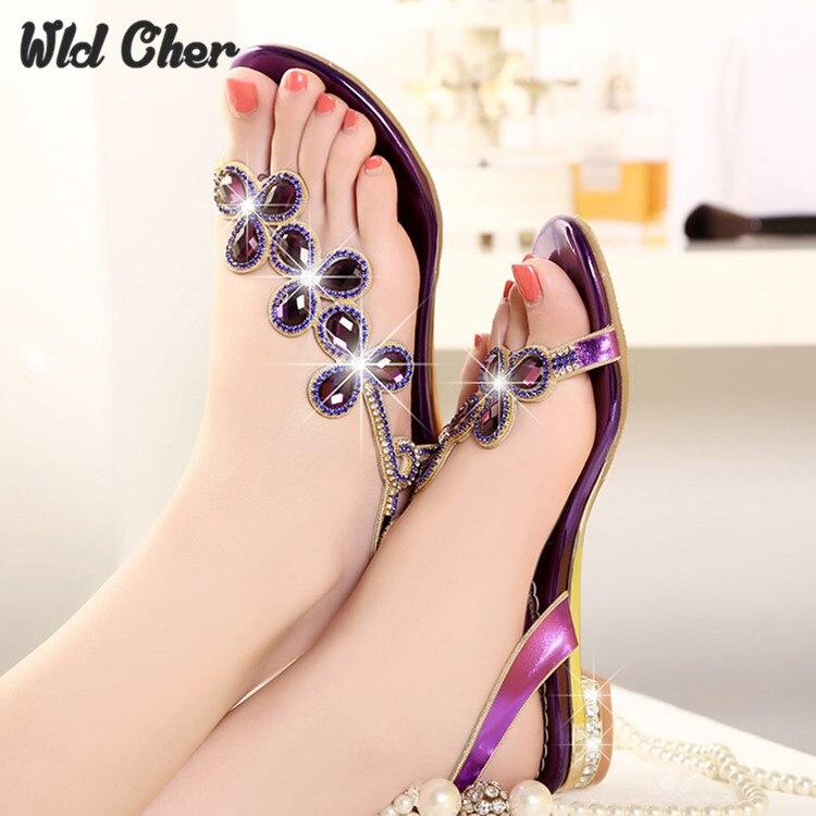 Catching Sandalias Mules Sexy Women Slide Sandals Rhinestone Fashion Ladies Sandals 2017 Summer Spring Shoes Sandals Flats<br>