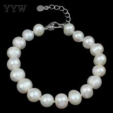 YYW Freshwater Cultured Pearl Bracelet Freshwater Pearl Potato natural white 9-10mm Sold Per Approx 7.5 Inch Strand