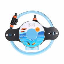 Aquarium Fish Tank Gravel Cleaner Water Changer Washer Siphon Cleaning And Filling Acuarios Aquarium Cleaning Tools With Switch(China)