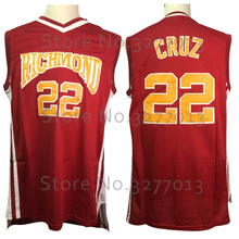 2018 Richmond Oilers Movie #22 Timo Cruz Jersey Cheap Throwback Basketball Jerseys Red Retro Vintage Stitched Shirts for Men(China)