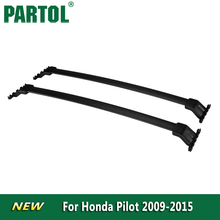 Partol Black Car Roof Rack Cross Bars Roof Luggage Carrier Cargo Boxes Bike Rack 45KG/100LBS For Honda Pilot 2009 2010 2011 2015(China)