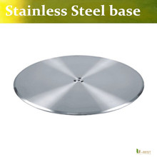 U-BEST  stainless steel round bar table base Suitable for top sizes of: 600mm, 700mm or 800mm Round or Square table