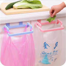 New Hot Sale Hanging Kitchen Convenient Cupboard Door Back Style Stand Trash Garbage Bags Storage Rack #232367(China)