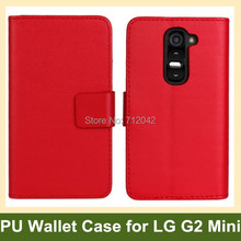 LG G2 Mini Case PU Leather Folding Wallet Flip Cover D620 Stand Function Free Ship - Abby 's store