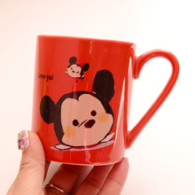 New Arrival Original Donald Duck Stitch Mickey Pooh Jack Cartoon Porcelain Coffee Milk Mugs Cup Gift