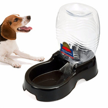 Useful Plastic 946ml Pet Dog Cat Large Automatic Water Dispenser Food Stand Feeder Dish Bowl Bottle Drinking Fountain(China)