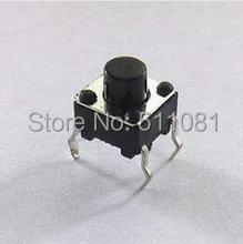 100pcs 6x6x4.3mm Micro Tact Switch Tactile Push Button Switch IC SW 6x6mm Height 4.3mm SPST-NO(China)