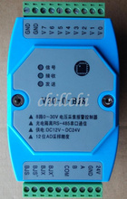 8 way 0-30V voltage acquisition upper and lower limit alarm controller RTU MODBUS photoelectric isolation 485 networking