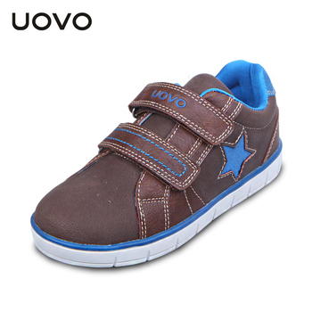 UOVO kids shoes pu leather children shoes casual sneakers for boys autumn boys shoes