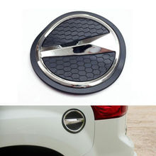 Auto Car Chrome Gas Door Cover Fuel Cap Oil Tank ABS 1pc Sequined Decoration Fit For 2015+ Isuzu MU-X