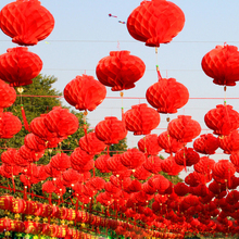 20 Pieces 8 Inch 20cm Traditional Chinese Paper Lanterns For 2017 New Year Christmas Decoration Hanging Festival Lanterns(China)