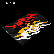 2pcs Universal Car Sticker Styling Engine Hood Motorcycle Decal Decor Mural Vinyl Covers Accessories Auto Flame Fire(China)