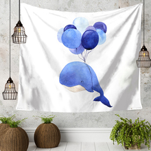 Cartoon Animal Elephant Whale Donkey Balloon Pattern Tapestry Living Room Bedroom Children Room Decorate Wall Hanging(China)