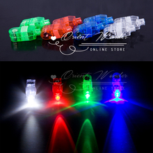 (30 pcs/lot) LED Finger Light Wedding Party KTV glowing light up Toys Christmas Festival concert decoration rave flashlight