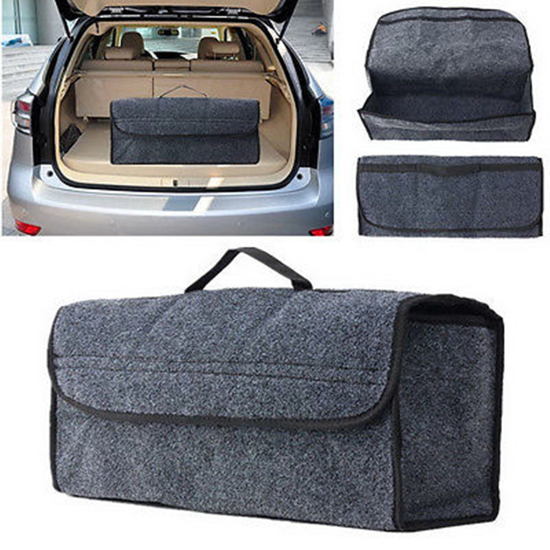 Grey Auto Car Seat Back Multi-functional Storage Bag Organizer Holder Accessory Home Storage Bags