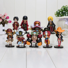 9pcs/set One Piece Action Figures Cute One Piece Film Z PVC Figure Toys Dolls(China)