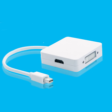 3 in1 Thunderbolt Mini DP Displayport to HDMI DVI VGA Analog Video Audio Converter Cable For MacBook Pro