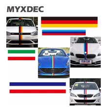 3 Meters/Lot 3 Colors Car Tail Waterproof PVC Sticker Badge Motorcycle Decoration Car Styling German France Italy Flag For BMW(China)