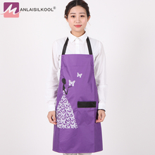 Fashion Adult Polyester Hanging-neck Apron Kitchen Restaurant Cooking Baking Waiter Work Customized Tablier Delantal Apron(China)