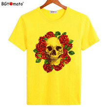 BGtomato Super cool skull shirts Original brand fashion clothes for men New design casual T-shirts Hot sale summer tops