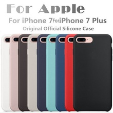 Original Have LOGO Silicone Case For Apple For iPhone 7 Plus Phone Cover For iphone 6S 6 Plus Retail Box