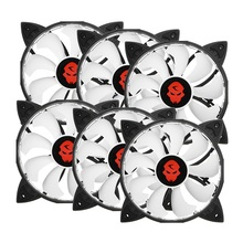 6PCS RGB Adjustable LED Cooling Fan 120mm With Controller Remote For Computer High Quality Computer Cooling Cooler Fan For CPU
