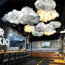 Creative floating white clouds, home decoration, the clouds light KTV bar restaurant Art Pendant chandelier