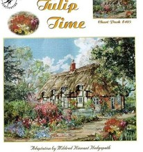 top Quality beautiful lovely counted cross stitch kit tulip time house home cottage villa(China)