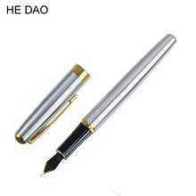 Best Price! High Quality Pure Stainless Medium Nib 0.5mm Study Business Fountain Pen Gifts Decor Executive Caneta(China)