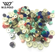 WDPOLO Colored ABS round stud bag parts bag button DIY patchwork handbags accessory simple and chic design hot selling M2335(China)