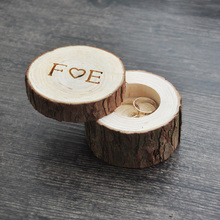 Custom Ring Box wedding/valentines wooden ring box Wood Anniversary Ring Box 4 styles(China)