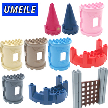 UMEILE Brand War Princess Castle  Sluice Gate Wall Large Particle Building Blocks Diy Create Kids Toys Compatible with Duplo