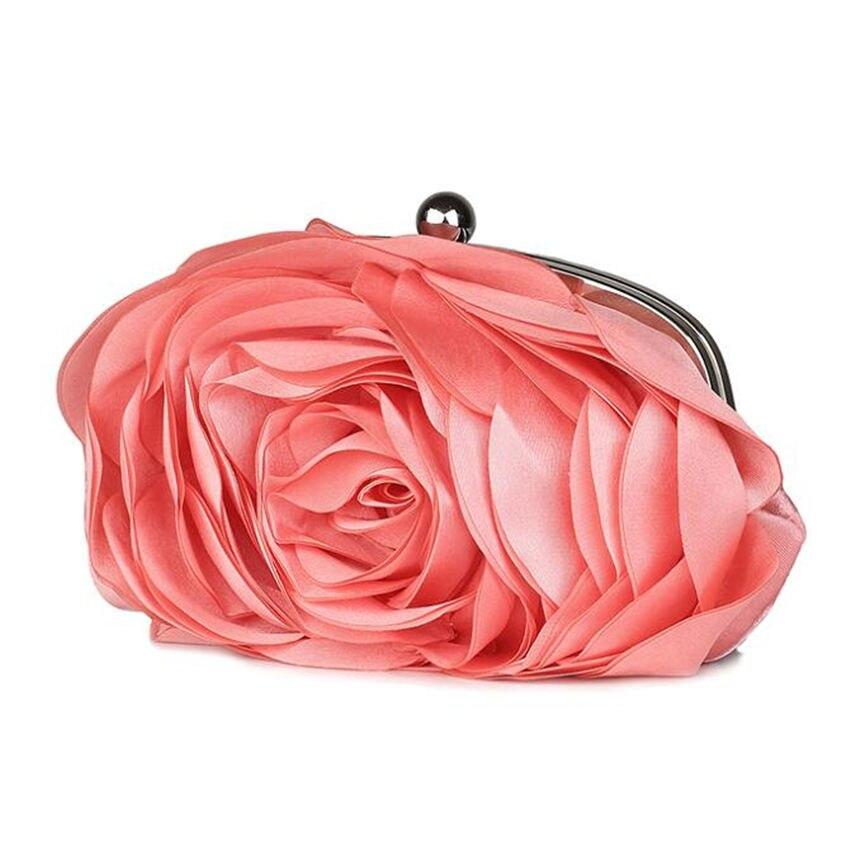2015 NEW Hot Sale Women Evening Bag 100% New Banquet 3D Big Flower Purse,Messenger Bags Bolsas Fashion Elegent Silk Satin Clutch<br><br>Aliexpress
