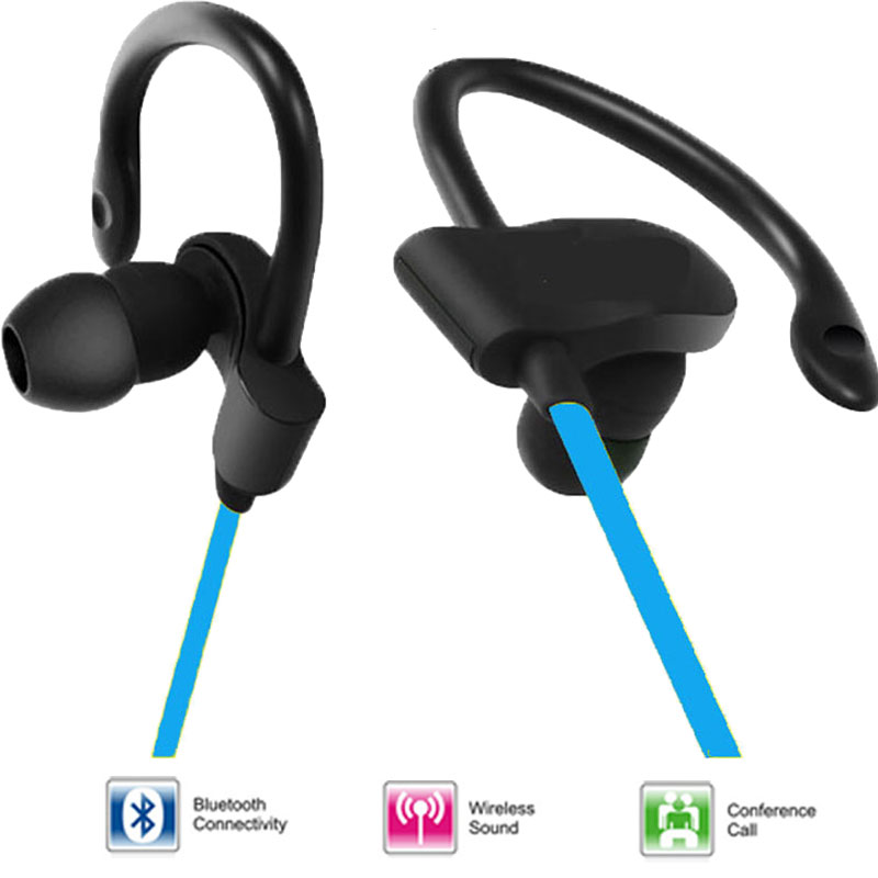 Original new sport waterproof bluetooth in-ear earphone wireless colorful usb port headphone for mobile phone<br><br>Aliexpress