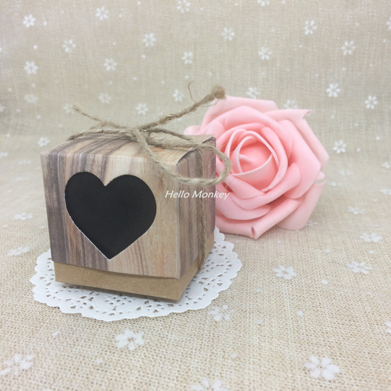 1pcslot 555cm Hollow Heart Candy Box For Wedding Invitations