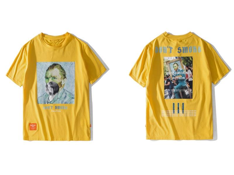 Funny Smoking Van Gogh Tshirts 1