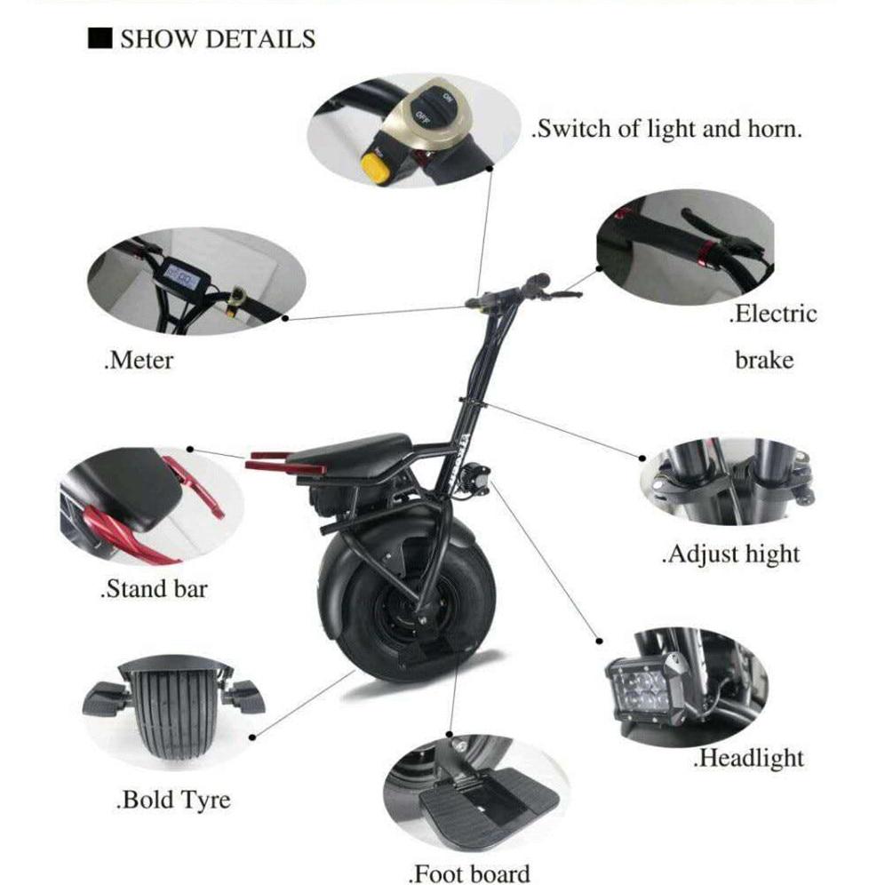 Лидер Продаж Off Road 1000 Вт один 1 колеса электрический самокат одноколесном велосипеде e велосипед 35 км/ч Максимальная скорость