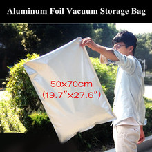"10pcs 50x70cm (19.7""x27.6"") 200micron Large Open Top Aluminum Foil Vacuum Bag Heat Sealing Grain/Dried Goods Storage Bag"